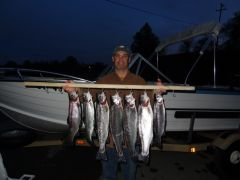 Craig Newton with a large catch. Photo courtesy Rooster Tails