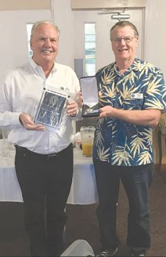 Len Ohlendorf and Wayne Lang. Photo courtesy Kiwanis Club of Carmichael