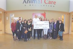 Bradshaw Animal Shelter is the recipient of a $5,000 grant courtesy of the Lyon Cares Foundation. Photo courtesy Lyon Cares Foundation