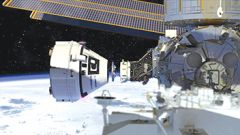 Boeing's CST-100 Starliner conducts a docking approach to the International Space Station Photo courtesy Boeing