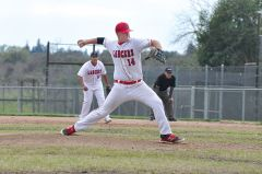 Cordova sophomore Dylan Murphy pitched six dominant innings, allowing just three hits while striking out six. Photo by Rick Sloan