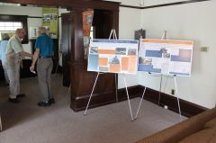 The Citrus Heights Water District created two display panels that chronicle how water came to Citrus Heights. Photo by Larry Fritz