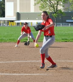 Sophomore pitcher Alexis Wygand is 5-6 with a 4.58 ERA for the Lancers this season. Photo by Rick Sloan