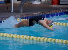May 5 is Time Trials, when all swimmers establish seed times for their first home meet against Arden Hills on May 12. Photo by Tom Jones