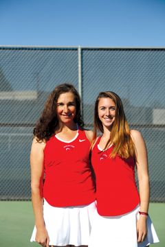 Mother-daughter duo Lilana and Eva Spindler finished second in a field of 64 doubles teams at the state tournament. Photo courtesy ARC Tennis