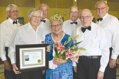 Congregation members honored long-time volunteer as their Queen for a Day during a Carmichael Presbyterian Church spring fundraiser.