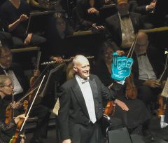 SCSO Conductor led the 250-voice Chorus and Orchestra in the West Coast premiere of Dan Forrest