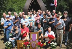 Veterans of Korean, Vietnam and Middle East conflicts joined a salute during Memorial Day observances in Carmichael.