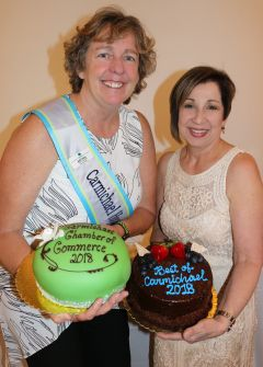 Carmichael Honorary Mayor Kelli Foley and Executive Director Linda Melody offered bespoke cakes for the dessert auction.