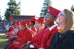 Cordova graduates celebrated their hard work on Friday at the school's 54th commencement ceremony held in Lancer Stadium. Photo by Kathy Escobar, FCUSD Multimedia Communication Specialist