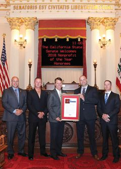 The Sacramento County Sheriff's Canine Association was selected by Senator Ted Gaines as a California Non-Profit of the Year. Photo courtesy Sacramento County Sheriff