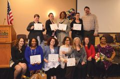 Kymla Birchette of American River Bank Foundation poses with graduates of Women's Empowerment's paid property management training program. The foundation recently granted $11,500 to the organization.