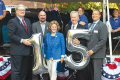 The Rancho Cordova city council gathered to celebrate 15 years. Photo by Jose Lopez