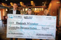 Hannah Whitaker was surprised with a scholarship of $25,000.