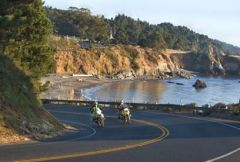 Celebrate National Motorcycle Week (August 14-20, 2018) on Mendocino's scenic Highway 1. Photo courtesy Visit Mendocino County