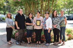 Representing the City of Rancho Cordova: (L-R) Tamara Artola, Tony Ingalls, Esther Pinola, Judy Khang, Barbara Boyd, Kim Juran-georgiou, Michelle Mingay.