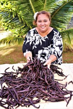 A visit to a vanilla farm is a Huahine tour highlight.