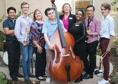 Carmichael honorary mayoral candidates swung into campaign season with teenage jazz musicians during a Carmichael Chamber of Commerce fundraiser.
