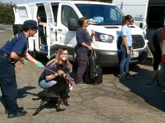 The shelter transport arrived back at the Sacramento SPCA Friday evening. Photo courtesy SPCA