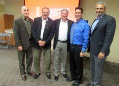 (L to R) Anthony Harris (LPA), Kevin Sullivan (LPA), Dennis Berkshire (LPA), Patrick Larkin (CRPD), Arash Izadi