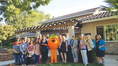 A ribbon cutting ceremony at Bellhaven Estate was attended by members of the Orangevale Chamber of Commerce, registered nurses from local hospitals, and a representative from Ted Gaines' office who presented the Brooks with a certificate of recognition. Photo provided by Dan and Monica Brooks.