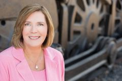 Railroad Museum CEO Cheryl Marcell. Photo courtesy Sacramento Railroad Museum.
