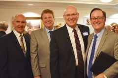From left, Associate Justice George Nicholson of the Third District Court of Appeals; Dr. John Mark Reynolds, a Houston Christian college administrator and popular Evangelical speaker; Elder Paul Watkins of The Church of Jesus Christ of Latter-day Saints; Dr. John Jackson, president of William Jessup University in Rocklin.