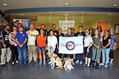 Society for the Blind members join the challenge. Photo courtesy Society for the Blind.