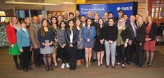 Recipients of SMUD's 2018/2019 Powering Futures scholarships pose with SMUD's Board of Directors and Executives after being recognized for their hard work and achievements at the Dec. 20 Board meeting. Photo courtesy SMUD
