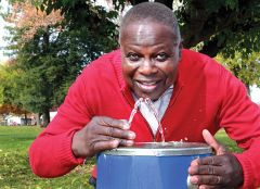 Clean, free drinking water is now a reality for many Ugandans.  Carmichael Rotarian and water engineer Richard Olebe led a campaign to provide the precious commodity for his native village. Photo by Susan Maxwell Skinner