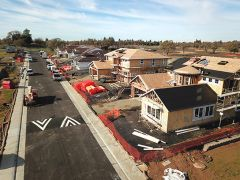 The Heritage at Gum Ranch, a new housing community developed by Elliott Homes, is currently under construction on the south end of the Gum Ranch property, northeast of Bella Vista High School. Photo provided by Elliott Homes.