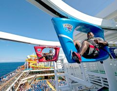 SkyRide, an outdoor, self-peddled roller-coaster bike ride, is a Vista Class exclusive. Photo courtesy Carnival Cruises