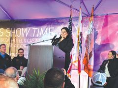 Glenda Nelson: Enterprise Rancheria Tribal Chairperson Glenda Nelson gave thanks to the tribal ancestors and offered thanks to everyone at the ceremony, in body as well as in spirit.