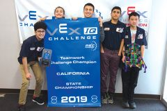 The school's Riverview Rockets robotics team competed in three robotics tournaments. Photo courtesy City of Rancho Cordova.