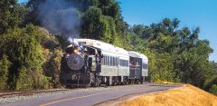 Announcing a new season of weekend excursion train rides along the Old Sacramento Waterfront that start 4/6-7. Courtesy of Kelly B. Huston