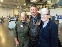 Captain Carole List, Tom Jones, Rear Admiral Bonnie Potter. Photo by Trina Drotar