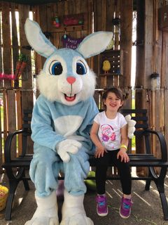 The Easter Bunny checks out where the big event will happen. Photo of the Easter Bunny provided by FORP