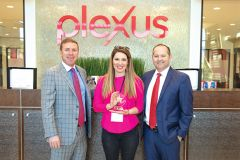 Amanda Klentz is pictured with Tarl Robinson, CEO and Founder (left) and Alec Clark, President and Founder (right) of Plexus Worldwide. Photo credit www.plexusworldwide.com.
