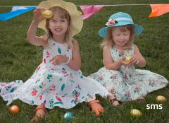 Fair Oaks sisters Naomi and Maia Wardlaw joined hundreds of children on the hunt for Easter Eggs in Carmichael Park.