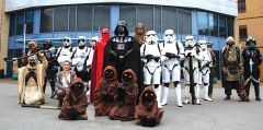 Stage Nine Cosplayers starring a series of imperial troopers led by Darth Vader, alien creatures from the planet Tatooine and a few rebel Jedi with Chewbacca. Photo courtesy T-Rock Communications