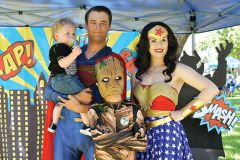 Blockbuster hit superheroes Wonder Woman and Groot from the Avengers made an appearance with spectators during the Kids Day at the Park event at Hagan Park in Rancho Cordova. Photo by Rick Sloan