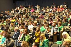 The audience of more than 250 parents at the April 9th, San Juan School Board Meeting.