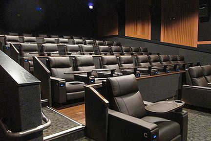 Image of the luxurious theater accommodations at Country Club Cinema.