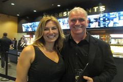 Margo Powers Cinema West's food and beverage manager and James Howard Cinema West Executive Director James Howard.