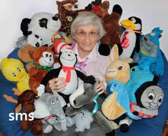 Carmichael octogenarian Nan Fellers collects and repairs soft toys to comfort traumatized children in police care.