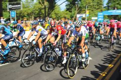 Captions: And the race begins! Amgen Stage 2 takes off from Rancho Cordova. Photo by Jose Lopez
