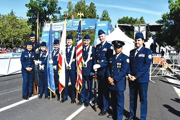 Cordova High School Color Guard opened the ceremonies. Photo by Rick Sloan