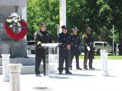 Sheriff Scott Jones reads name of fallen Sacramento Sheriff's Department officers
