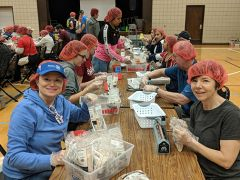 Volunteers bagged over 75,000 meals, which will be distributed by Rise Against Hunger, a non-profit international hunger relief organization. Photo by Shaunna Boyd.