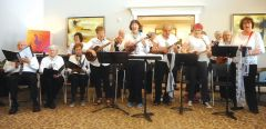Singing for Fun's ukulele ensemble: the Uk-u-Ladies. Photo courtesy of the Renaissance Society.